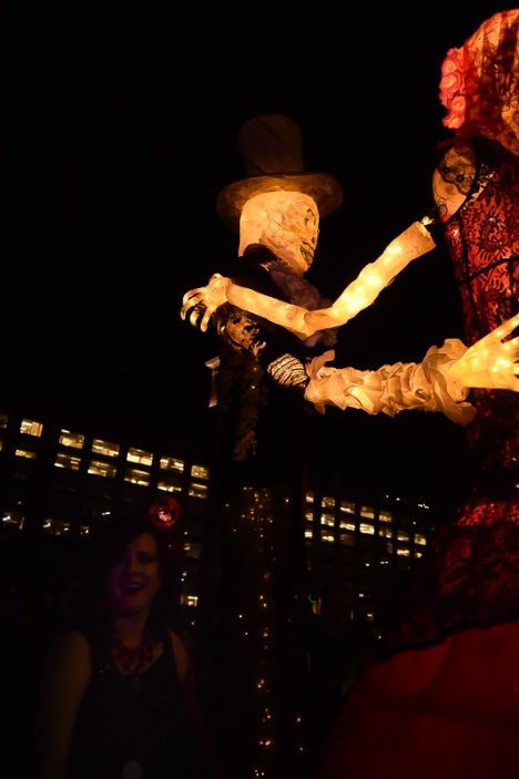 Ballroom dancer lanterns.
