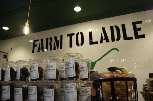 Snacks on display from Farm to Ladle.